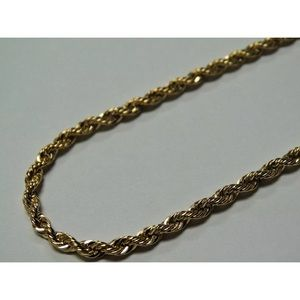 Other - 14K Stamped 3mm Gold Plated Rope Chain NEW